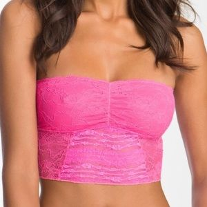 Intimately Free People hot pink lace bandeau M